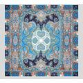 Paisley Print Cashmere And Silk Shawl - Blue - Etro Scarves