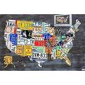 Jigsaw Puzzles 1000 Pieces For Adults,Teens, License Plate Map Usa Jigsaw Puzzles 1000 Pieces Wooden Puzzles