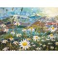 5000 Pieces of Jigsaw Art, Adult Jigsaw Puzzles, Perfectly Assembled Jigsaw Puzzles, Fun Family Puzzles (Oil Painting Flower Field)
