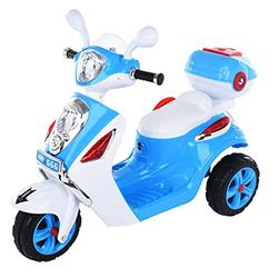 LUGUO 6V 4.5A Kids Electric Motorbike for Kids 2-6, Anti-Vibration Kids Trike Children Electric Scooter, Battery Powered Ride-On Toy with Headlights & Music & Anti-skid Anti-explosive Tires【UK STOCK】