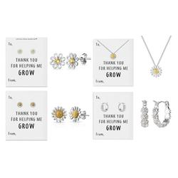 Philip Jones Thank You for Helping Me Grow Jewellery: Daisy Necklace - Two