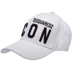 Adjustable Men's Cotton Hat Baseball Cap Icon - White - DSquared² Hats