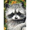 YXLY Adult Jigsaw Puzzle 1000 Piece Wooden Puzzle Standard For Teenagers And Adults,Very Good Educational Game-Raccoon