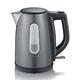SEVERIN Wasserkocher 1 L Schwarz, Metallic-Grau 2200 W WK 9540