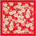 Poppy Flowers Print Silk Scarf - Red - Gucci Scarves