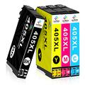 LeciRoba 405xl for Epson 405xl Ink Cartridges and 405 Ink Cartridges for Epson Workforce Pro WF-3820DWF WF-3825DWF WF-4820DWF WF-4825DWF WF-4830DTWF WF-7830DTWF WF-7835DTWF WF-7840DTWF ( 4-PACK )
