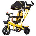 JIEJIE trikes Tricycle Trike Children's Tricycle, Kids' Trikes Bicycle Trolley Bicycle Awning Reversible Folding Pedal Multi-function 1-3-6 Year Old (Color : Red) ( Color : Yellow )