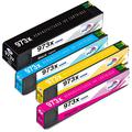 Kingway 973X Ink Cartridges for HP 973 973X Ink Cartridge Black Cyan Magenta Yellow Compatible with HP PageWide Pro 477dw 452dw 552dw 452dwt 477dn 477dwt 577dw 577z Printer, 4 Pack
