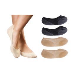 Moisturising Foot-let Socks - Black x2