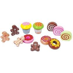 Lelin Wooden Toy Cake 12-Piece Set