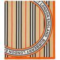 Icon Stripe And Logo Graphic Silk Small Square Scarf - Black - Burberry Scarves