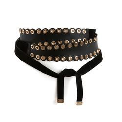 Leather Wide Eyelet Belt By La Redoute