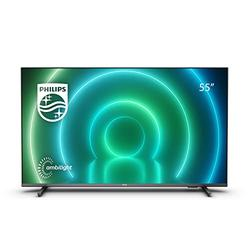 """Philips 55 Inch Smart TV 4K. LED Television for Netflix, YouTube and Gaming/Google Assistant and Alexa/Ambilight, Android TV, HDR Picture, Dolby Vision & Atmos Sound / 55"""" Philips 55PUS7906/12"""