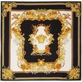 Black & Gold Renaissance Print Scarf - Black - Versace Scarves