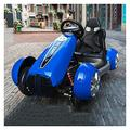 FGJMYB Latest Large Individual Seats Toy Car With 2 Motors 12V Battery Childrens Electric Ride Can Sit Remote Go Kart Control Car Bluetooth Connection Kids Gift J ( Color : BLUE )