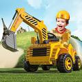 ZAKRLYB RC Electric Car Engineering Car Tractor Remote Control Excavator Children Gifts Kids Toy Can Ride On Electric Car Can Sit On Electric Car Battery Car RTR For Kids