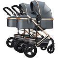 Baby Stroller Bassinet Pram Carriage Stroller Twin Stroller Double Stroller Fold City Baby Pushchair, Double Toddler Jogging Stroller,Jogging Compact Urban Strollers, Foldable Anti-Shock High View Car
