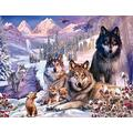 Ryzzz Snow Wolf Pack Adult Puzzle 1000 Pieces-Adult Puzzle-Adult Puzzle Puzzle-Adult 1000 Pieces Puzzle
