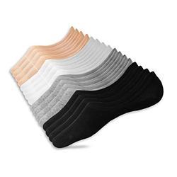 Eedor Women's 3/6/8 Pairs Thin No Show Socks Non Slip Flat Boat Line, 8 Pairs (16 Socks)_4 Colors, Large