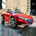 ZAKRLYB Child Toy Car Gift Kids Electric Car Lights Car Can Sit Remote Control Baby Swing Four Wheel Double Door Anti-skid Wheel Car Children's Electric Car , Children's Christmas New Year Riding Gift