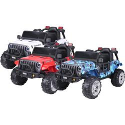 Kids 4x4 Electric Ride-On Car with LED Lights and Music: Camouflage