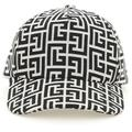 Baseball Monogram Cap - Black - Balmain Hats