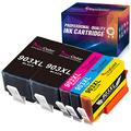 YINGCOLOR 903XL Ink Cartridges for HP 903XL 903 XL Ink Cartridges Multipack for HP Officejet 6950 Officejet Pro 6760 6970, HP 6950 6960 6970 All-in-one Printer, (Black Cyan Magenta Yellow), 5 Pack