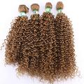 Easy To Braid Double Color Afro Kinky Curly Hair Weave Bundles High Temperature Synthetic Brazilian Hair Extensions For Black Women-#27_20 20 20 20 Inch
