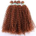 Hair Extensions Double Color Afro Kinky Curly Hair Weave Bundles High Temperature Synthetic Brazilian Hair Extensions For Black Women-#30_20 20 20 20 Inch