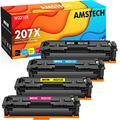 Amstech Compatible Toner Cartridge for HP 207X 207A 207 Color LaserJet Pro MFP M283fdw M255dw M283fdn M282nw M255nw W2210X W2210A W2211X W2212X W2213X Ink (Black Cyan Yellow Magenta,4-Pack)