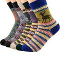 XIAOQIAO down vest women Hiking Socks 5 Pairs Winter Socks Men Pack Fawn And Stripes Version Thick Warm Wool Sock Durable Stretchable Hiking Socks Women down vest (Color : 1928)