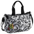 Okiedog Equinox Metro Luxury Messenger Baby Changing Bag (Black/White)