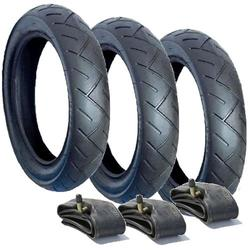 A SET OF 3 PRAM TYRES AND TUBES 12 1/2 X 2 1/4 57-203