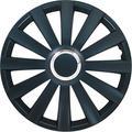 Set wheel covers Spyder 17-inch black + chrome ring