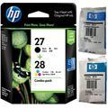 Original HP 27 & 28 - Print Cartridge - 1 x Black 1 x Yellow, Cyan, Magenta C8728A C8728AE - Deskjet/PSC/Photosmart/Officejet/Digital Copier Printers - Easy Mail Packaging - Foil Inks