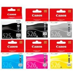 Set of 6 original boxed genuine Canon ink cartridges (includes grey) for Pixma MG6150 printers