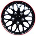 AUTOSTYLE KT970-16 IB+R Set wheel covers Missouri 16-inch black/red rim
