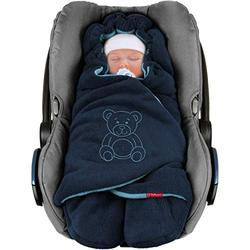 ByBoom Baby Swaddling Wrap, Car Seat and Pram Blanket for Winter, Universal for infant and child car seats (e.g. Maxi-Cosi, Britax), for a pushchair/stroller, buggy or baby bed; THE ORIGINAL WITH THE BEAR