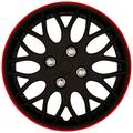 Set wheel covers Missouri 13-inch mat black/red rim