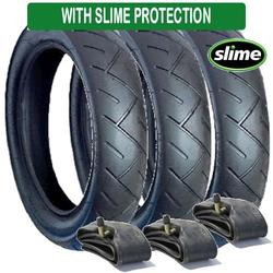 A Set of Tyres and Tubes Suitable for Out N About Nipper Pushchairs-Slime Protected