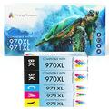 Printing Pleasure 5 (1 SET + 1 BLACK) Compatible Ink Cartridges Replacement for HP 970XL 971XL Officejet Pro X451dn X451dw X476dn X476dw X551dw X576dw - Black/Cyan/Magenta/Yellow, High Capacity
