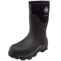 Muck Boots Men's Arctic Sport Mid Rain Boot, Black (Black/Black), 13 UK