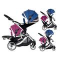 Kids Kargo Duellette 21 BS Travel System Pram Double Pushchair (Raspberry and Blueberry)
