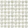 72pcs Mix Set Silver Flower PIN BROOCHES Diamante Crystal JOBLOT Bridal Brooch Wedding UK Seller