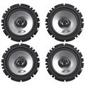 """Alpine (2) Pairs Sxe-1725s 6.5"""" 80 Watt Rms 4 Ohm 2-Way Coaxial Car Audio Speakers Featuring A Ferrite Magnet, And Mylar-titanium Balanced Dome Tweeter"""