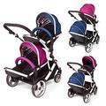 Kids Kargo Duellette Hybrid Double (Suitable From Newborn If Used With Car Seats)