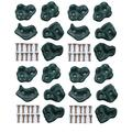 HIKS Plastic Climbing Stones Holds & Grips, Ideal For Climbing Frames , Tree Houses And Kids Climbing Walls (Pack of 20 Grips)