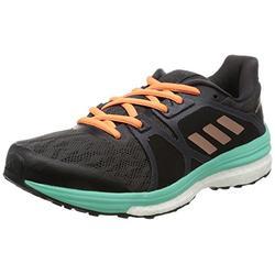 adidas Women's Supernova Sequence 9 Running Shoes, Black (Utility Black/Tech Rust Metallic/Easy Green), 10 UK
