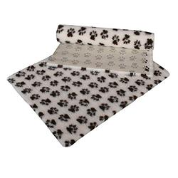 Vetfleece antiscivolo con piccolo zampa design parto in pile per cane gatto animale cucciolo gattino animali,