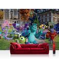 Premium Plus Fleece Photo Wallpaper Wall Mural Photo Wallpaper – Disney Disney – Monsters University Children Cartoon Monster Book Blue – No. 965, mehrfarbig, blau, Fototapete 368x254cm | PREMIUM Blue Back